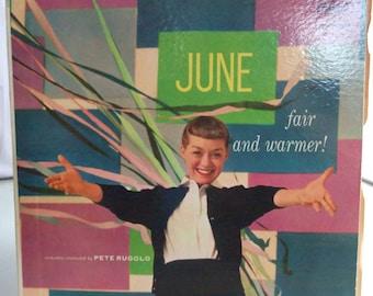 June Christy, Fair and Warmer, Vintage Record Album, Vinyl LP, Cool Jazz Singer, American Singer, Torch Singer
