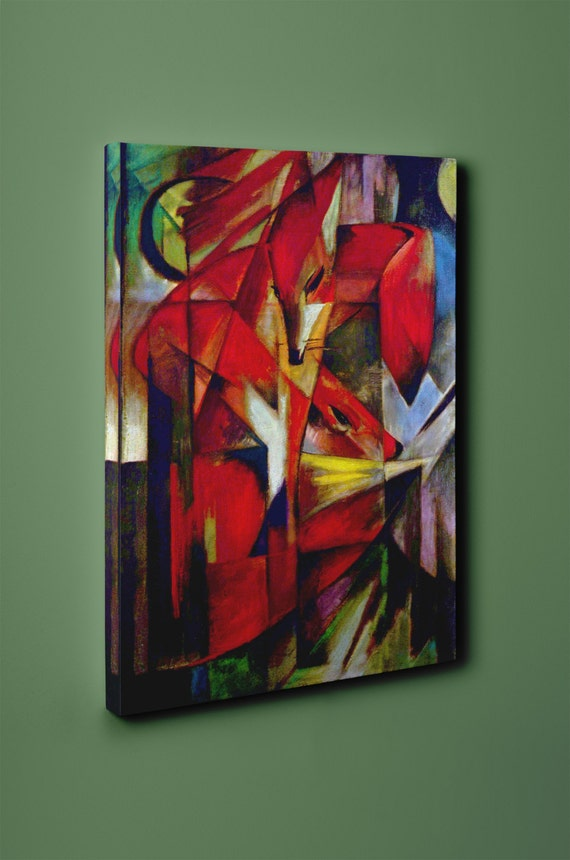 Foxes | Franz Marc Mirror Wrapped Canvas