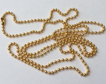 "12 Ball Chain Necklaces 80cm (31 4/8"") Gold Plated - CHN47"