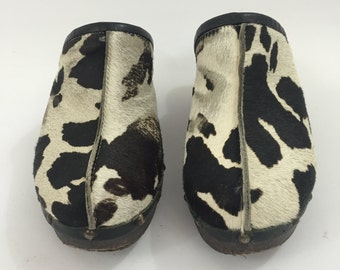 Cow Fur Clogs Made in Italy