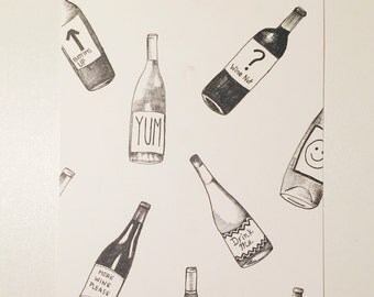 Original Illustration: Wino