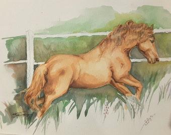 WATERART* Original watercolour handmade Horse, Dog, Cat pet paintings. Custom portraits.
