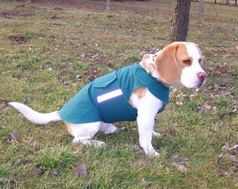 Beagle Winter dog coat with underbelly protection - Dog Jacket - Custom made Dog Raincoat - Waterproof / Fleece -  MADE TO ORDER