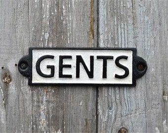 Vintage style cast iron Gents toilet sign PP4