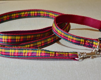 Matching collar & lead set - Buchanan Tartan