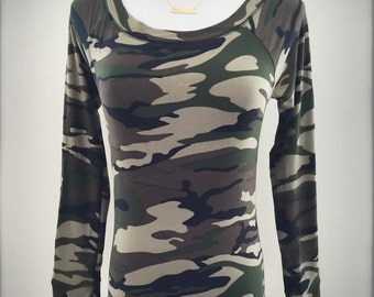 Camouflage Long Sleeve Top (149321)