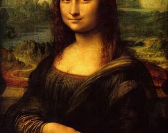 Leonardo Da Vinci: Mona Lisa. Fine Art Print/Poster. (001899)