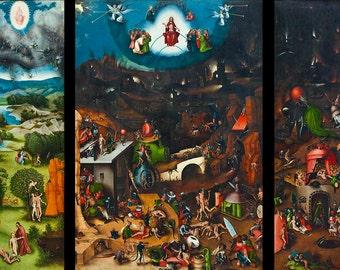 Hieronymus Bosch: The Last Judgement. Fine Art Print/Poster (001443)