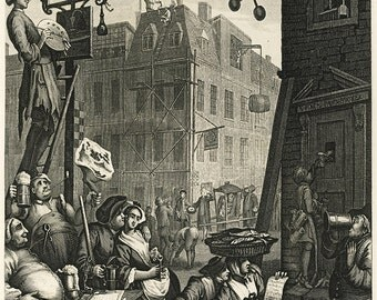 William Hogarth: Beer Street. Fine Art Print/Poster (00232)