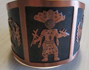 Copper Apache Crown Dancer Cuff Bracelet