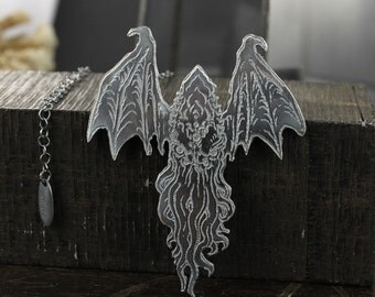 Cthulhu necklace - Lovecraft necklace - Octopus necklace - Sterling silver necklace - Handmade