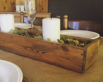 Wooden Centerpiece Box