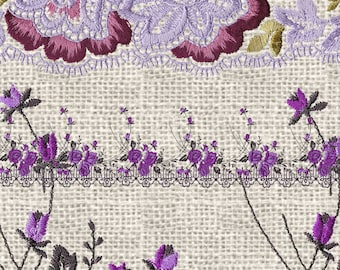 Purple Lace Clipart, Vintage Lace borders clip art scrapbook embellishments, png lace digital instant download commercial use