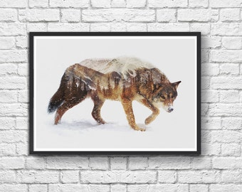 Art-Poster 50 x 70 cm - Winter Wolf