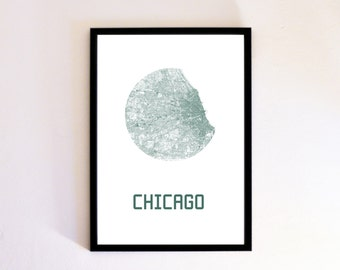 Chicago Custom City Map Poster Print