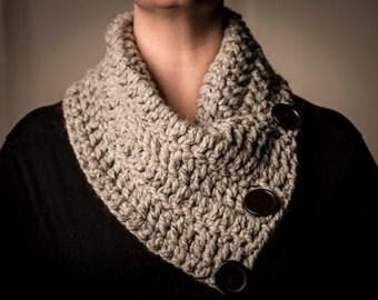 Light Gray Crocheted Cowl