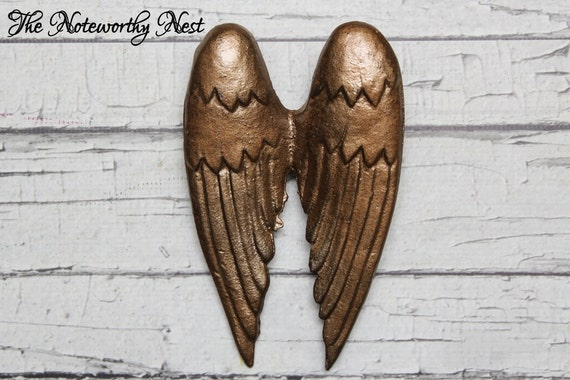 Rustic Angel Wings Wall Decor : Black angel wings rustic decor iron by thenoteworthynest