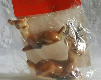Vintage pair Celluoid Deer