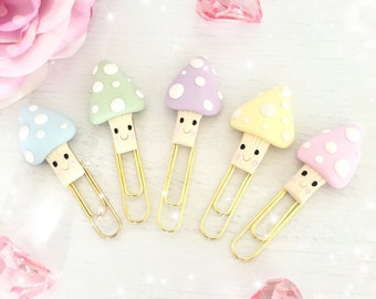 Pastel Clay Happy Toadstool Paperclip...