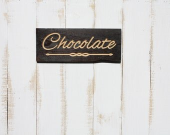 Chocolate Word Wall Art
