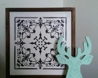 Tin Tile Stencil