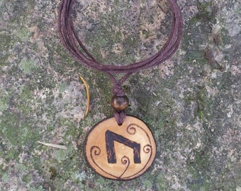 Uruz Elder Futhark Rune Necklace, Uruz Pendant,  Rune Pendant, Rune Necklace, Pagan Jewelry, Wiccan Jewelry, Witch, Witchcraft, Magick