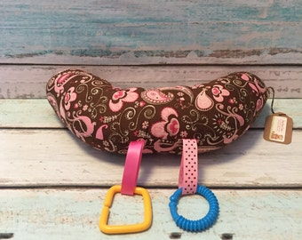 Brown Paisley Tummy Time Pillow