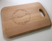 Kitchen Bread Board [Bespoke Cheese/Chopping Board] Solid Beech with Personalisation LOVE