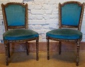 A pair of mid 19th Century Antique French Louis XVI Occasional Chairs