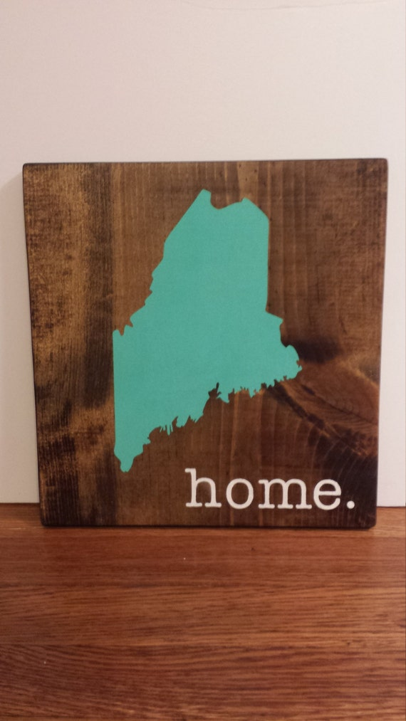 Maine Wood Sign State Sign Custom Wood Sign Pallet Sign