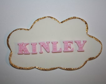 Fondant Name Plaque