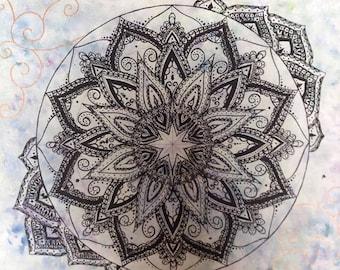 Handpainted Mandala Acrylic Original Painting
