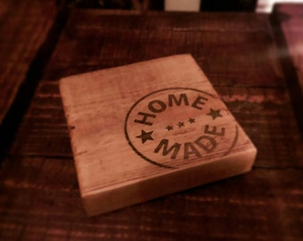 Rustic wooden drinks coasters