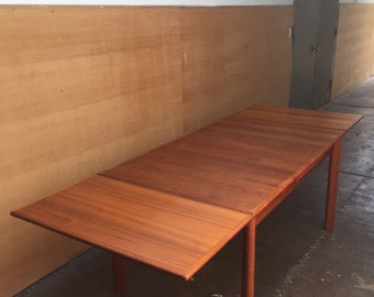 Danish modern BRDR Furbo teak dining table