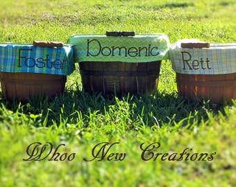 Monogrammed Personalized Customized Easter Baskets
