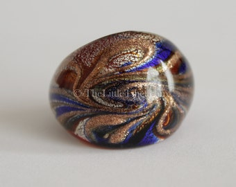 Glass Ring :  Individually blown glass ring with intricate design R3