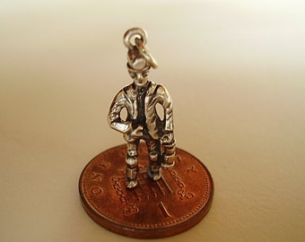 Sterling Silver Coal Miner Charm