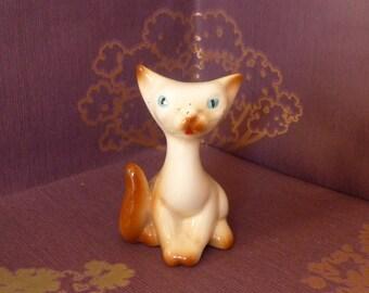 """Cute Little 1950s Cat Figurine Scoop Head Italian 6cms 2 1/2"""""""