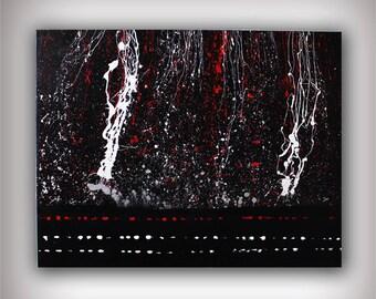 Abstract Art Canvas Painting 31x24 Original Modern Wall Art - Release