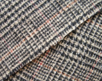 Glenplaid Wool Fabric By The Yard from Italy Super Soft