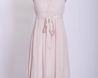 Grecian goddess cotton maxi dress