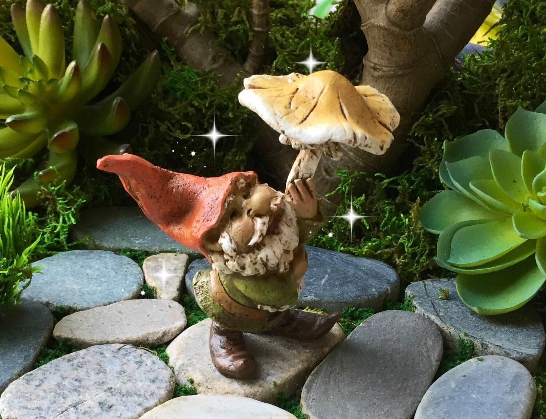 Fairy Garden Gnome Miniature Garden Gnome Mini Gnome Tiny