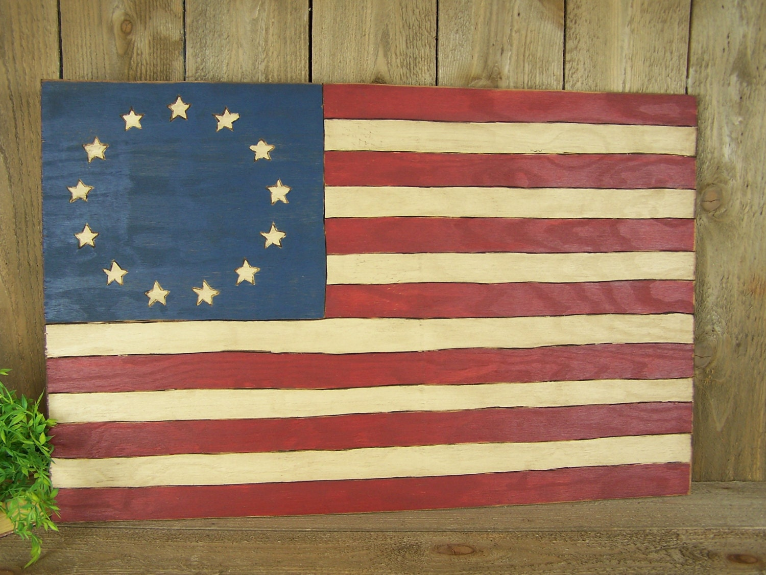 Wooden American Flag Art Distressed Flag Wall Art Rustic Usa