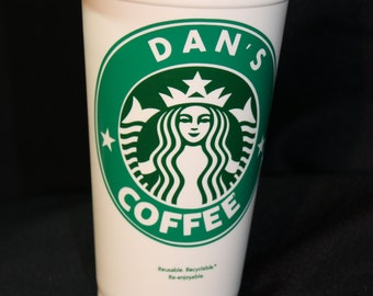 Starbucks Cup,  Personalized Starbucks cup, travel cup, coffee cup,  name, beverage, whatever!