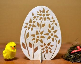 Easter decorations wooden egg easter ornament decor