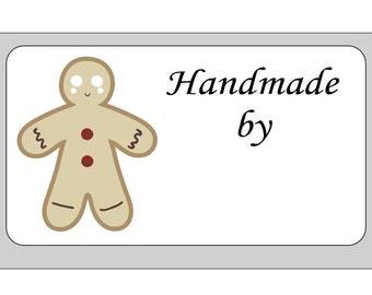 24 x Personalised Gingerbread Man Mini Self Adhesive Labels
