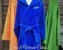 Super Soft!  Children's Monogrammed Robes - ALL COTTON - Hypoallergenic & Super Fluffy
