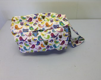 bird fabric diaper bag