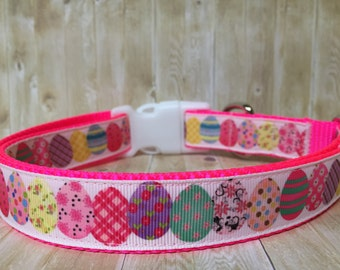 Easter Dog Collar - Spring Collar - Easter Egg Collar -  Easter Collar  - Girl Dog Collar - Pretty Collar - Collar and Leash Set