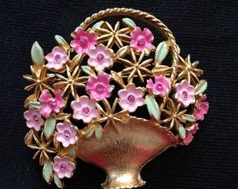 Kramer Flower Basket Brooch / Pin